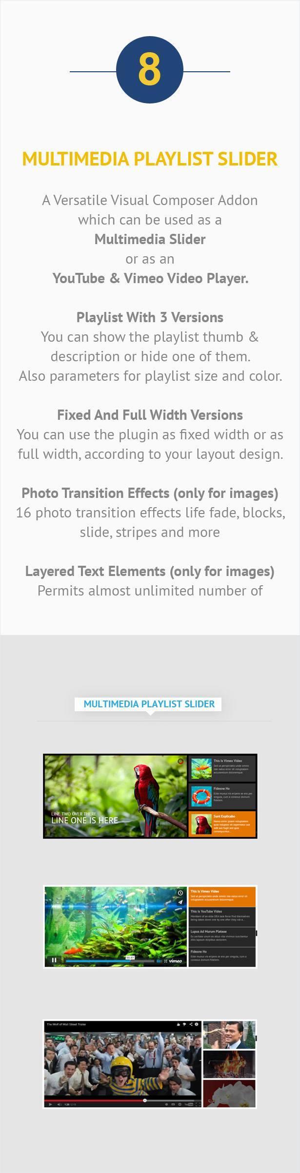 Visual Composer Addon – Multimedia Playlist Slider